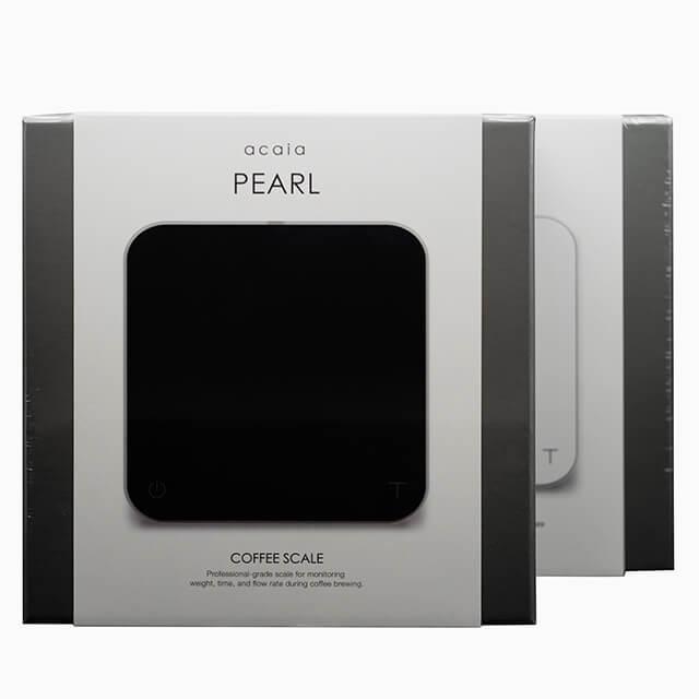 acaia PEARL Barista-Waage in schwarz und weiß