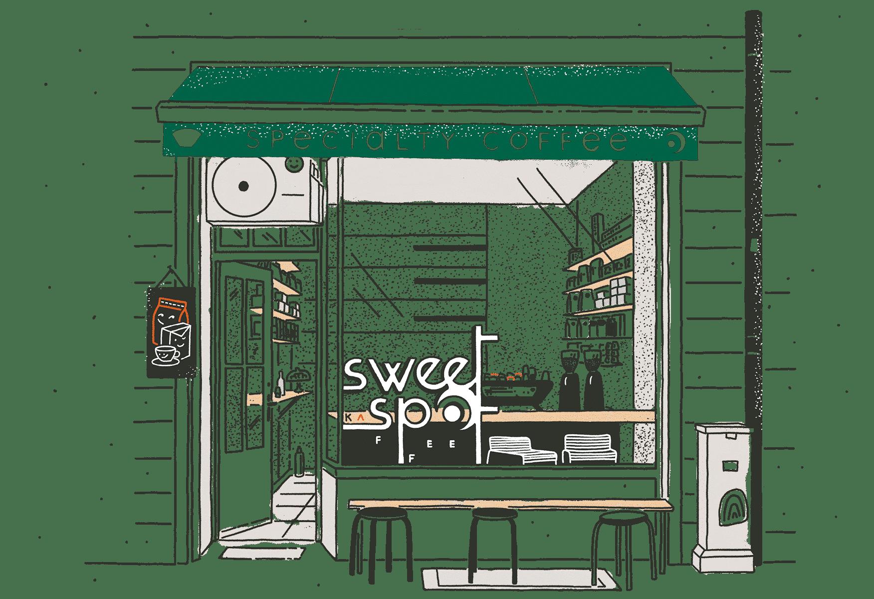 sweet spot kaffee viktualienmarkt storefront